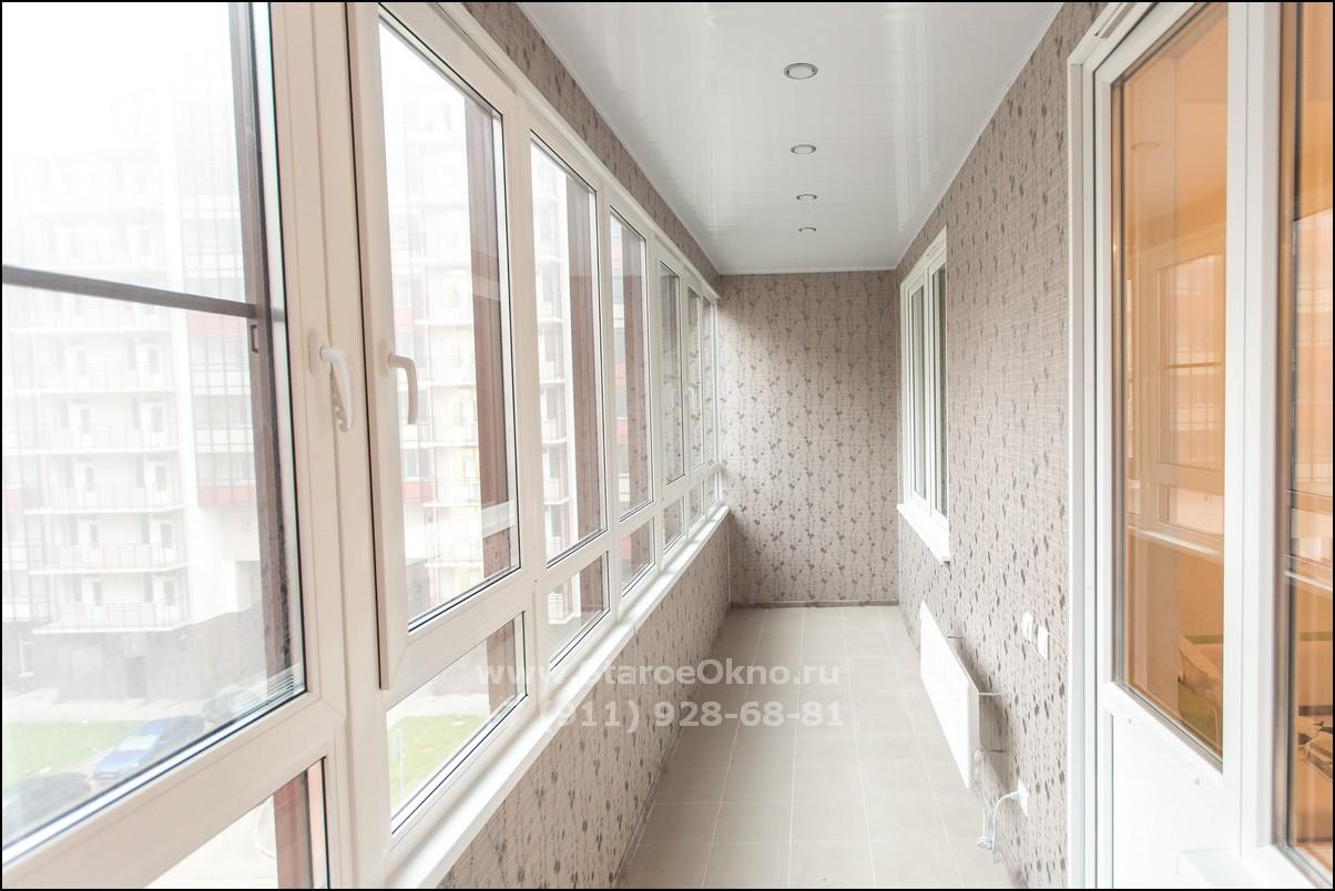 Жилой балкон под ключ фото спб