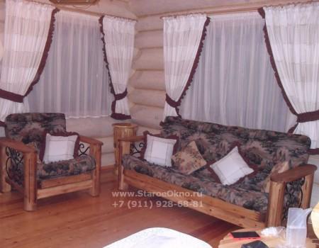 Оформление окон текстилем дома в Агалатово