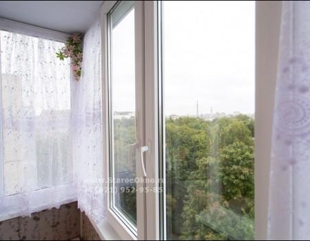 Установка тёплого остекления балкона в Купчино