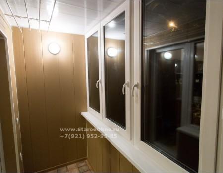 Установка тёплого остекления лоджии пр Ветеранов 18