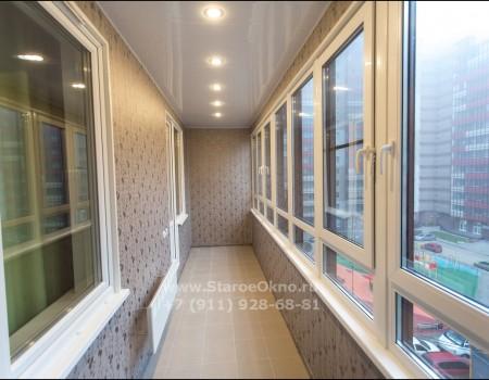 Утепление и отделка балкона под ключ в Кудрово