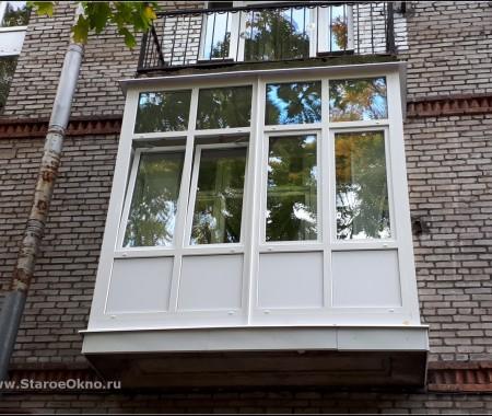Отделка балкона на ул Гданьская дом 13